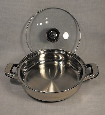 Oneida Immaculate 2 1/2-Quart Saucepan Skillet 18/10 Stainless Steel with Lid