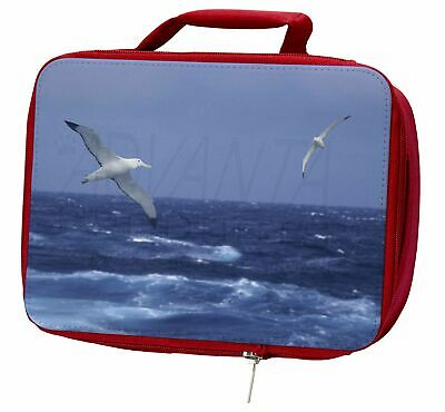 Sea Albatross Flying Free Insulated Red School Lunch Box/Picnic Bag, AB-106LBR