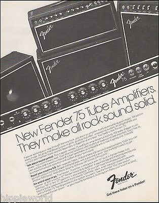 The 1980 Fender 75 Tube Guitar Amp Series ad 8 x 11 amplifier advertisement