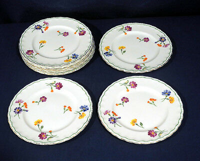 Vintage Grindley China The Primula 8 Bread + Butter Plates Excellent Condition