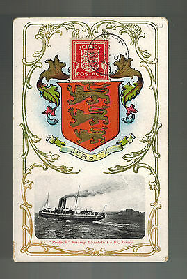 1943 Occupied Jersey England Picture Postcard Cover SS Roebuck Ship at Sea 1 p