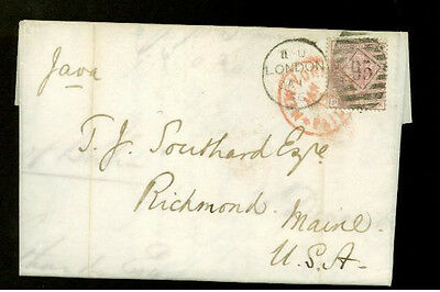 1878 London England Letter Cover to France