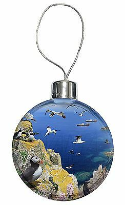Puffins and Sea Bird Montage Christmas Tree Bauble Decoration Gift, AB-93CB