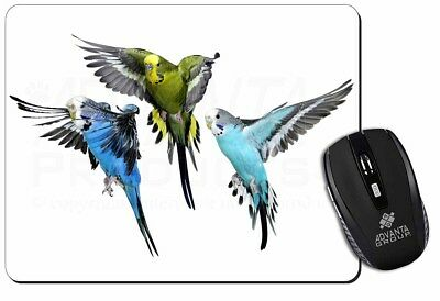 Budgerigars, Budgies in Flight Computer Mouse Mat Christmas Gift Idea, AB-94M