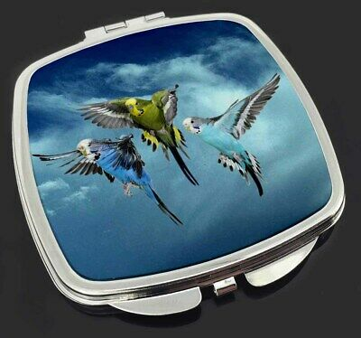 Budgies in Flight Make-Up Compact Mirror Stocking Filler Gift, AB-96CM