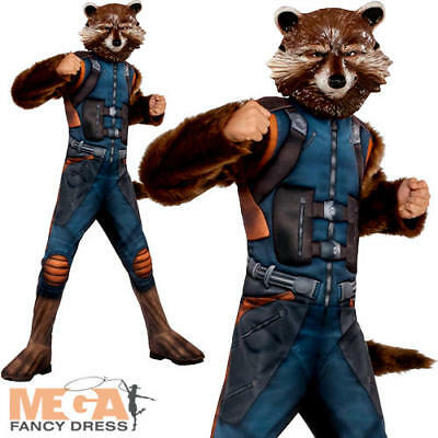 Deluxe Rocket Boys Fancy Dress Guardians of the Galaxy Superhero Childs Costume