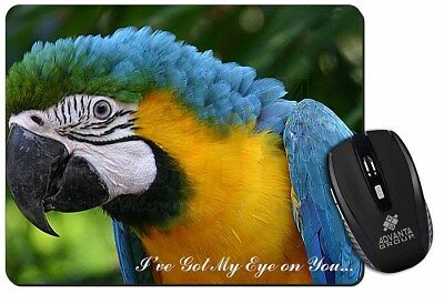 Parrot 'I've Got My Eye On You' Computer Mouse Mat Christmas Gift Ide, AB-PA80EM