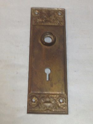 Antique Vintage Ornate Door Knob Lock Key Hole Escutcheon Plate Part