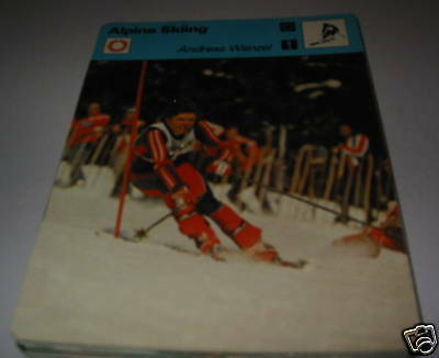 Andreas Wenzel - Alpine skiing SC Collector card