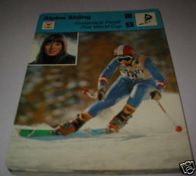 Annemarie Proell 5 wor- Alpine skiing SC Collector card