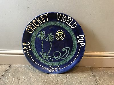 Extremely Rare Cricket World Cup 2007 Terracotta Wall Plate sport memorabilia