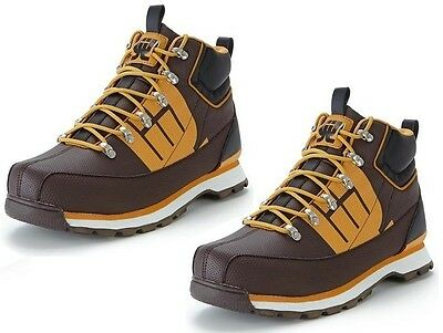 Boys Urban Logik Scarfell Brown & Tan Strong Look Boots Size 5.5