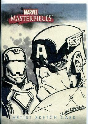 Marvel Masterpieces 2007 Sketch Card By Patrick Scherberger