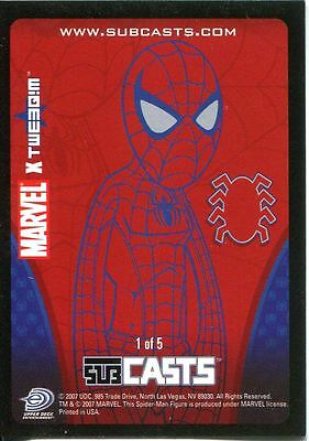 Marvel Masterpieces 2007 Subcast Chase Card #1 Spiderman