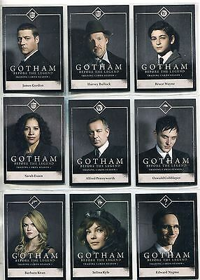 Gotham Season 1 Complete Character Bios Chase Card Set C1-15