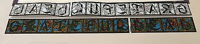 """Vintage Grateful Dead,Sticker,Stained Glass Look,12""""x2"""" Long New Old Stock Rare"""