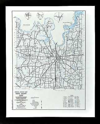 Texas Map - Cook County - Gainesville Muenster Valley View Lindsay - Red River