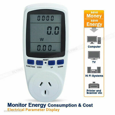 AU Plug Power Energy Consumption Watt Meter Electricity Usage Test Equipment