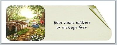 30 Personalized Return Address Labels Mouse Family Buy 3 get 1 free (bo 814)