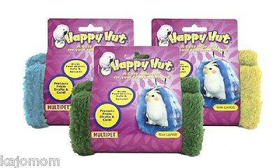 MultiPet LARGE or MEDIUM HAPPY HUT USA Seller Bird Parrot Hide A Way ALL COLORS