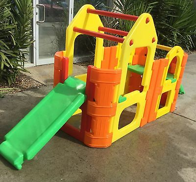 Plastic Activity Climber Gym Extension Slide Steps Tough Strong Fun Outdoor