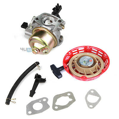Recoil Starter & Carburetor Kit For Honda Gx160 5.5hp Gx200 6.5hp 16100-ZH8-W51