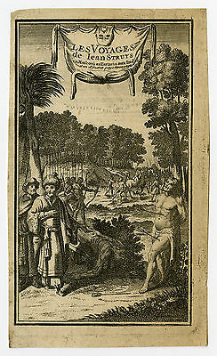 Antique Print-FRONTISPIECE-TRAVEL-RUSSIA-INDIA-STRUYS-Anonymous-1718