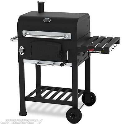 BBQ Smoker Holzkohlegrill Holzkohle Grillwagen Barbecue Grill Standgrill Stahl