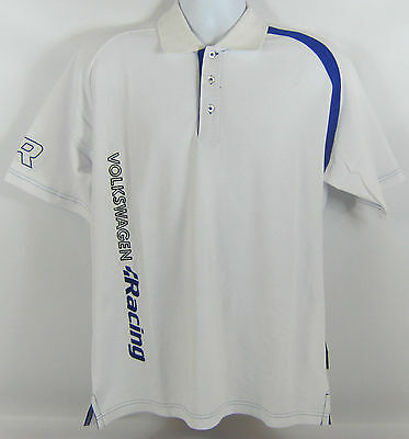 Mens Volkswagen R Racing Collection White Polo T Shirt - Genuine Vw Merchandise