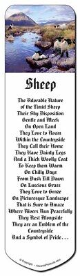 Border Collie on Sheep Watch Bookmark, Book Mark Christmas Stocking Fil, AS-24BM