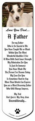 Jack Russell Dog 'Love You Dad' Bookmark, Book Mark Christmas Stockin, DAD-176BM