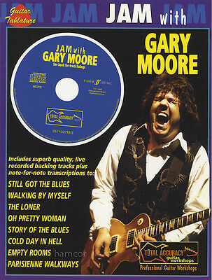 Jam with Gary Moore Guitar TAB Music Book & Play-Along Backing Tracks CD