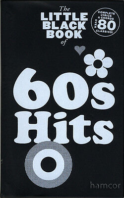 60s Hits The Little Black Songbook Guitar Chords & Lyrics Music Song Book