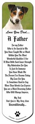 Jack Russell 'Love You Dad' Bookmark, Book Mark Christmas Stocking Fil, DAD-60BM