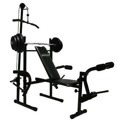 Charles Bentley All-In-One Home Gym 35kg Barbell Set With Barbell