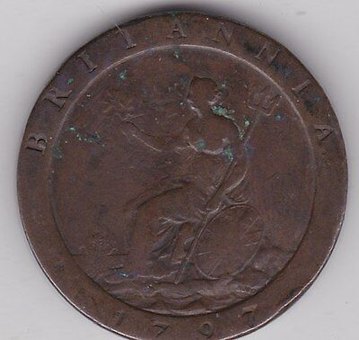 1797 George Iii Cartwheel Penny In A Used Fine Condition