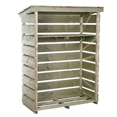 Charles Bentley Garden Log Store Made of Nordic Spruce - Heavy Duty