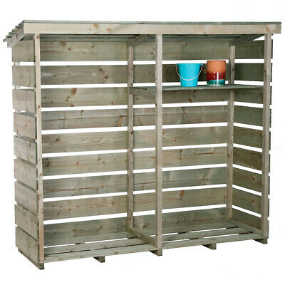 Charles Bentley Double Log Store Made of Nordic Spruce - Heavy Duty