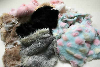 Assorted LUXURY Faux Fur Fabric Waste Offcuts 1KG
