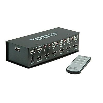 VALUE KVM HDMI Switch 4x USB Hub