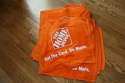 """Lot of 36 NEW The Home Depot Orange Towels Promo 18""""x15"""" Bar/Shop/Home"""