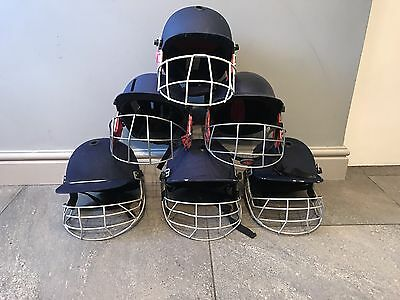 6 cricket helmets - Various Makes And Sizes