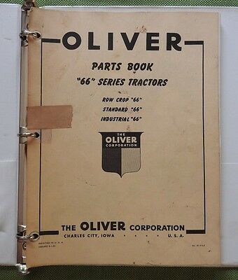 1950 Oliver 66 Series Row Crop Standard Industrial Tractor Parts Catalog Manual