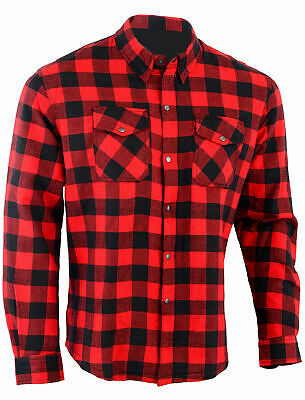 M'cycle Flannel Lumberjack Shirt Lined WITH DuPont™ KEVLAR® ARAMID BLACK / WHITE