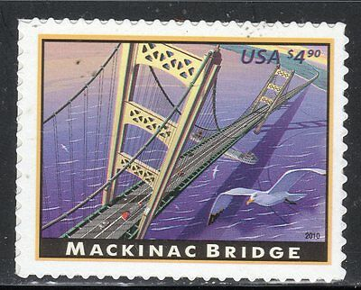 Sc# 4438 $4.90 Mackinac Bridge, MI (2010) MNH Single SCV $11.00