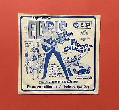 Elvis Presley-Awesome Awesome Rarest Single From Peru-Mint Minus