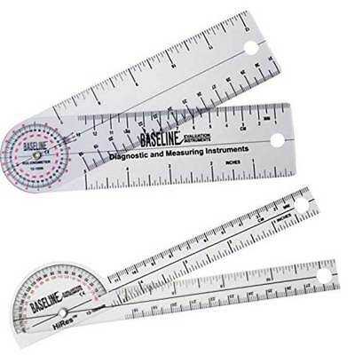"Baseline Inexpensive Clear Plastic Goniometers 5"" linear scale"