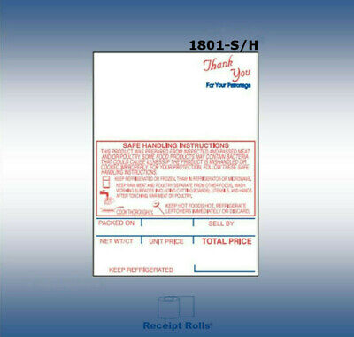 "Hobart SHI Style K SP-80/SP 1500 Style #1 -  2 1/4"" x 3.0"" - Scale  Labels"