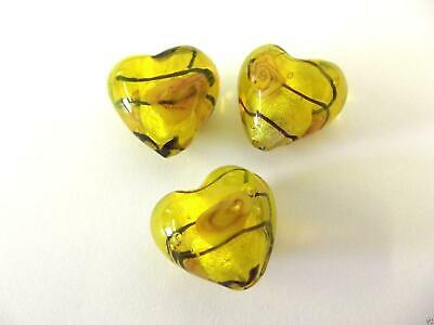 Impex Trimits Deluxe - Heart Rose Lamp Beads - Yellow
