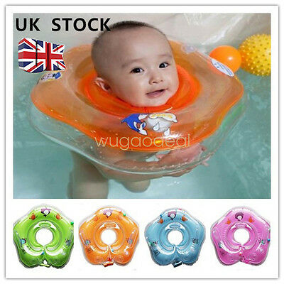 Baby Bath Swimming Neck Float Inflatable Ring Tube Adjustable Safety UK